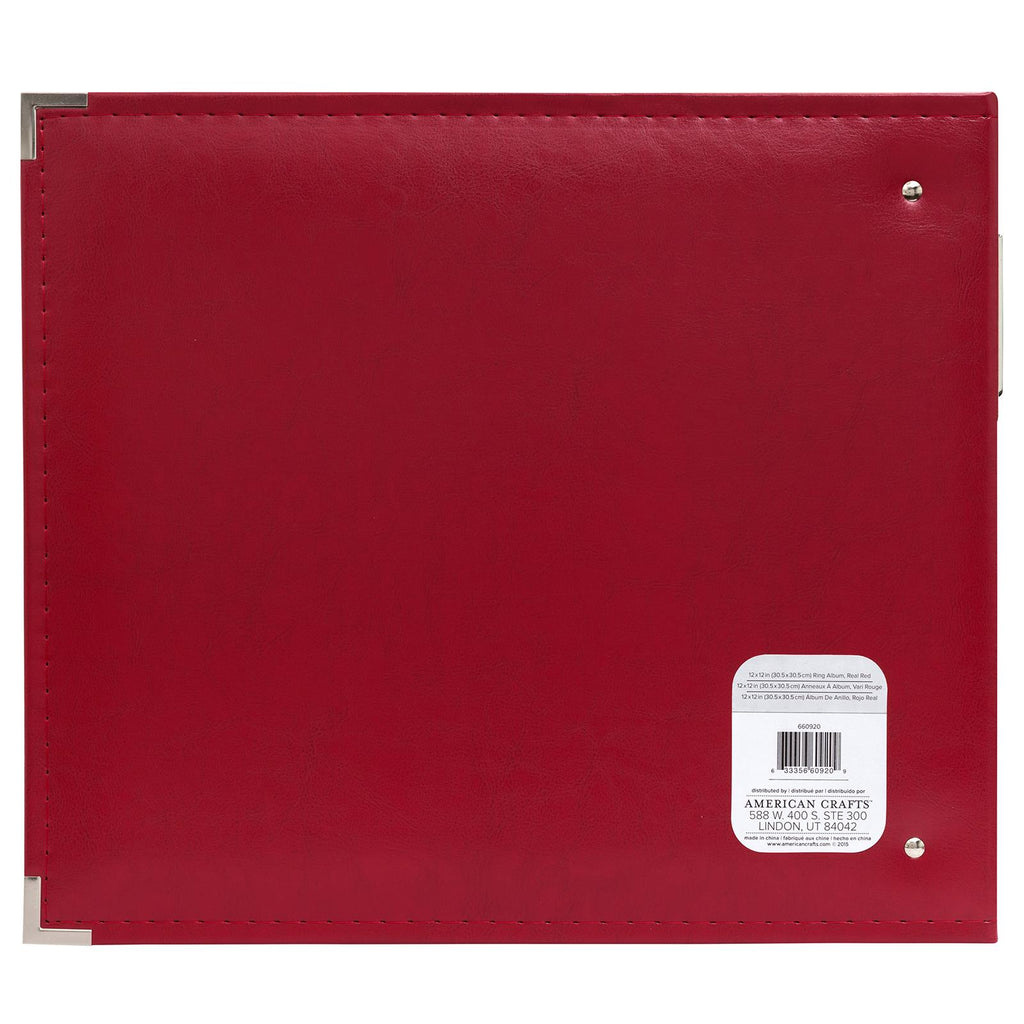 We R Memory Keepers 12 x 12 Album Real Red