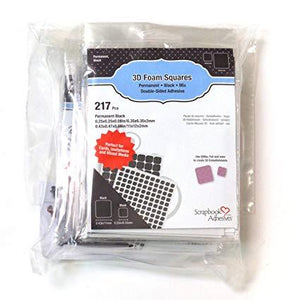 Scrapbook Adhesives 3D Foam Squares Permanent Black Mix