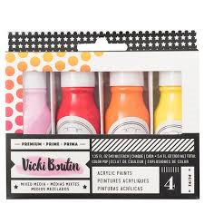 Vicki Boutin Acrylic Paints Mixed Set of 4