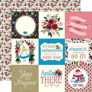 Echo Park Alice in Wonderland 4x4 Journaling Cards