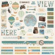 Simple Stories Vintage Traveler Combo Cardstock Stickers