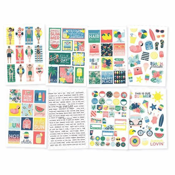 Simple Stories Sunshine and Blue Skies 4 x 6 Sticker Sheets