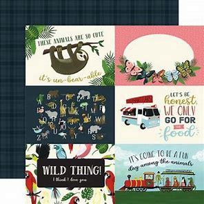 Echo Park Animal Safari 4x6 Journaling Cards