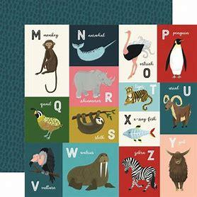 Echo Park Animal Safari M-Z Animal Alphabet Cards