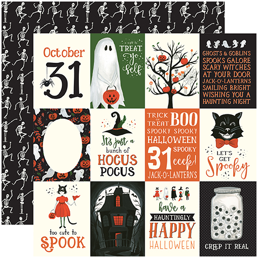 Echo Park Trick or Treat 3X4 Journaling Cards