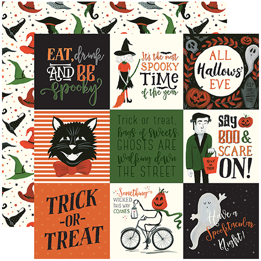 Echo Park Trick or Treat 4X4 Journaling Cards
