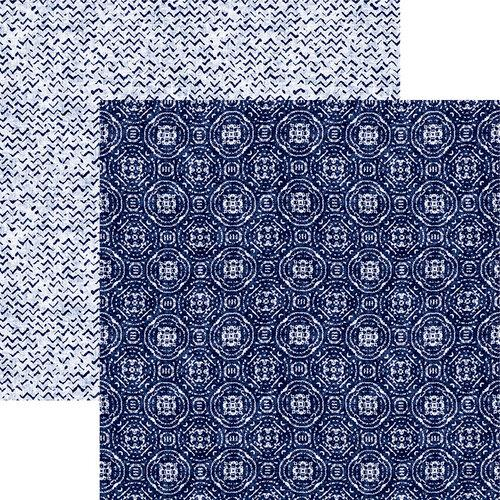 Reminisce Shades of Indigo 12 x 12 Indigo Medallion