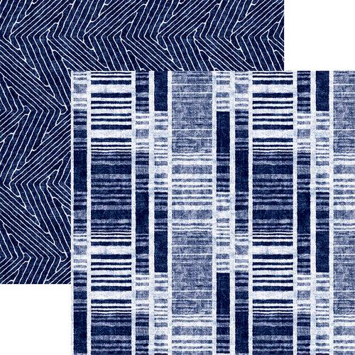 Reminisce Shades of Indigo 12 x 12 Indigo Stripe