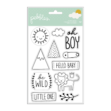 Pebbles Peek A Boo Boy Stamps