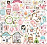 Echo Park All Girl 12 x 12 Element Sticker Sheet
