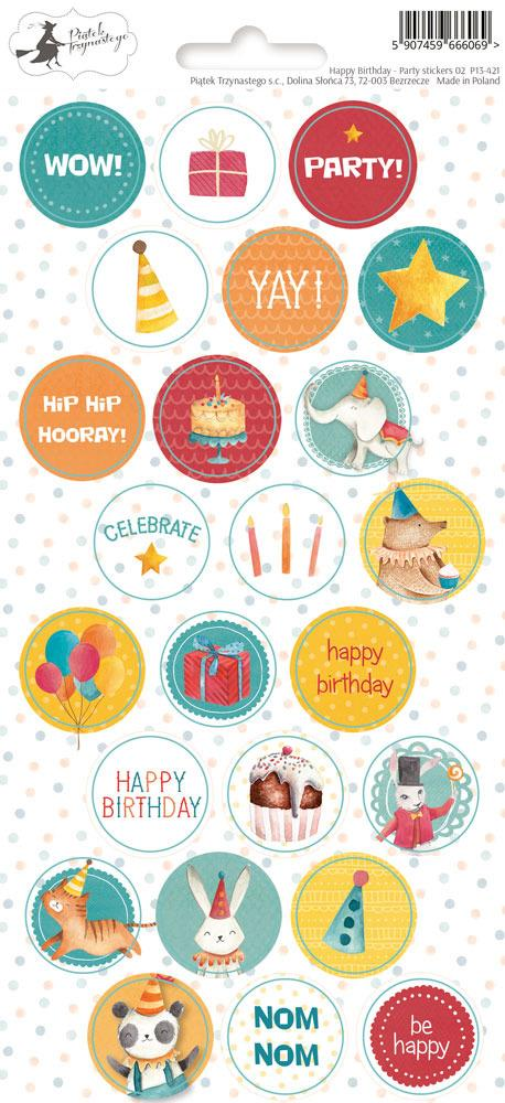 P13 Happy Birthday Party Stickers 02