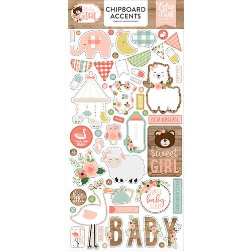 Echo Park Baby Girl Chipboard Accents