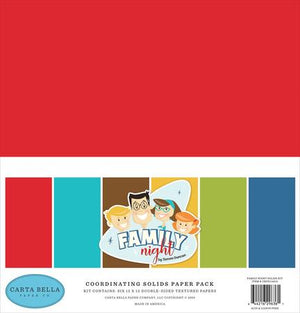Carta Bella Family Game Night Solids Pack