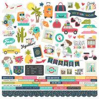 Simple Stories Going Places Combo Cardstock Stickers