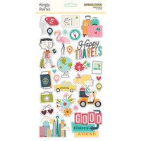Simple Stories Going Places Chipboard Stickers
