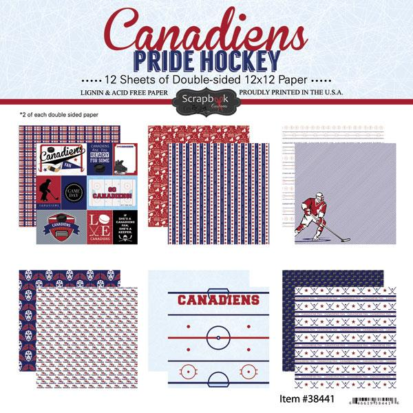 Scrapbook Customs Canadiens Pride Hockey Collection Kit