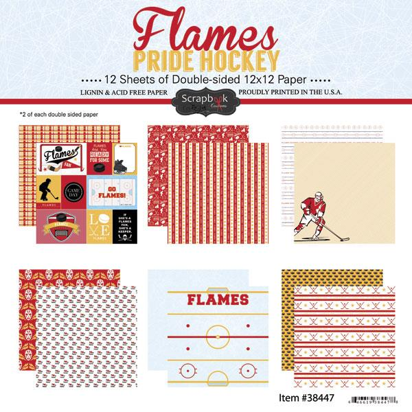 Scrapbook Customs Flames Pride Hockey