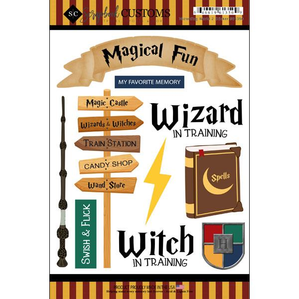 Scrapbook Customs Wizarding World 2 Sticker