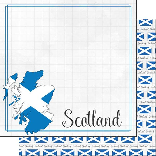 Scrapbook Customs Scotland Adventure Border