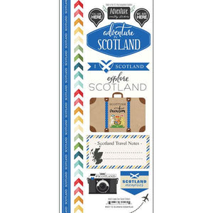 Scrapbook Customs Scotland Adventure Country Stickers