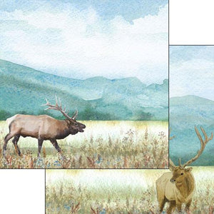 Scrapbook Customs Elk DS Watercolor