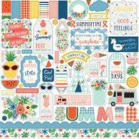 Echo Park Summertime Element Sticker Sheet