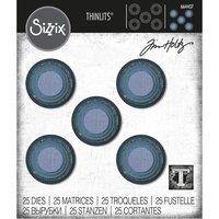 Sizzix Tim Holtz Thinlits Stacked Tiles, Circles