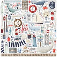 Carta Bella By The Sea 12 x 12 Element Sticker Sheet