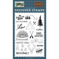Carta Bella Summer Camp Let Summer Begin Stamp Set
