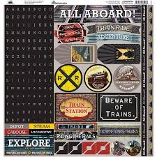 Reminisce All Aboard Kit Die Cut Stickers