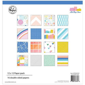 Pinkfresh Let's Stay Home 12x12 Paper Pack