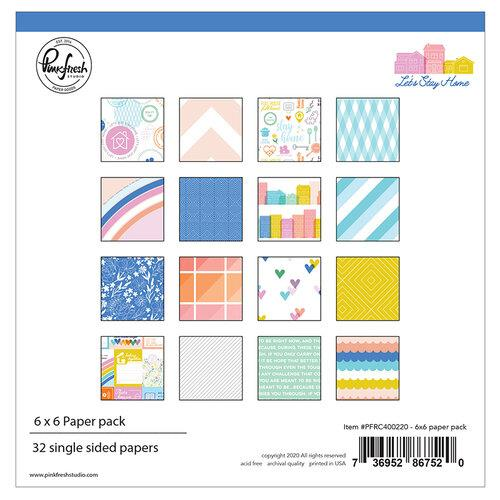 Pinkfresh Let's Stay Home 6x6 paper pack
