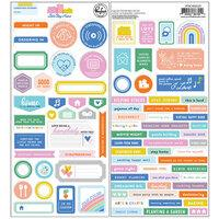Pinkfresh Let's Stay Home cardstock stickers