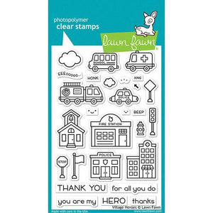 Lawn Fawn Village Heroes Stamp Set LF2341