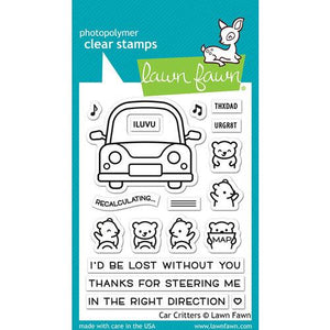 Lawn Fawn Car Critters Stamp Set LF2341