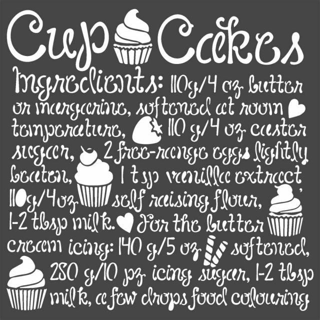 Stamperia Sweety Cupcake Stencil