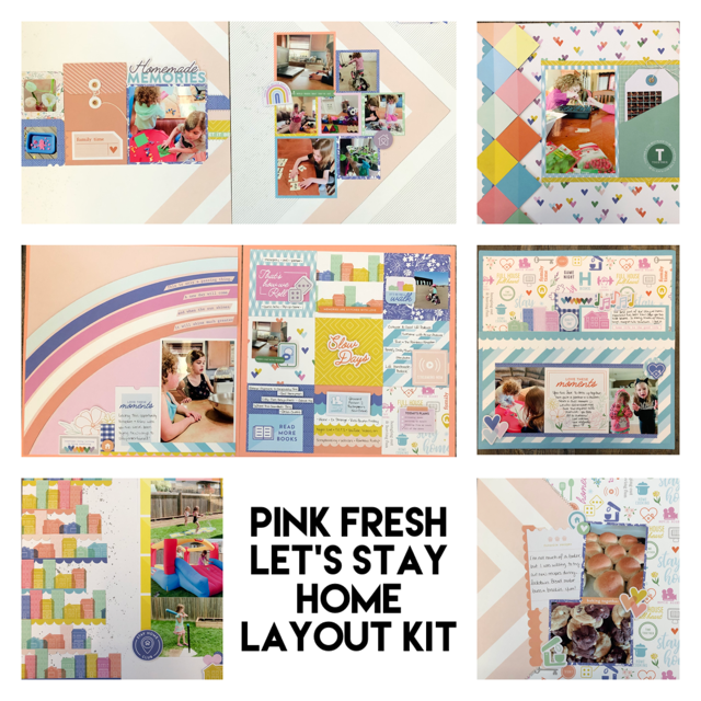 Pink Fresh Let's Stay Home Layout Kit