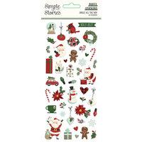 Simple Stories Jingle All The Way Puffy Stickers