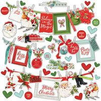 Simple Stories Simple Vintage North Pole Banner Cardstock Stickers
