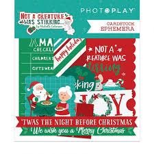 Photoplay Not A Creature Was Stirring Cardstock Ephemera