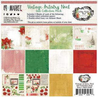 49th & Market Vintage Artistry Noel 6x6 Collection Pack