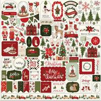 Carta Bella Hello Christmas Element Sticker Sheet