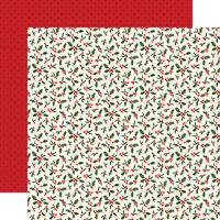 Carta Bella Hello Christmas Holly Berries