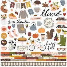 Simple Stories Cozy Days Cardstock Stickers