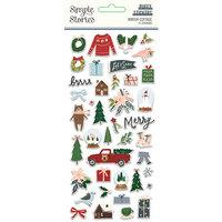 Simple Stories Winter Cottage Puffy Stickers