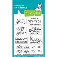 Lawn Fawn Shutter Card Holiday Sayings Stamp Set