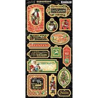 Graphic 45 Christmas Time Chipboard Stickers
