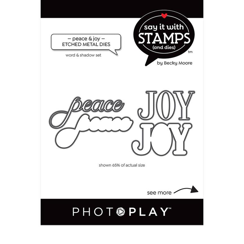 Photoplay Say It With Stamps Peace & Joy Dies