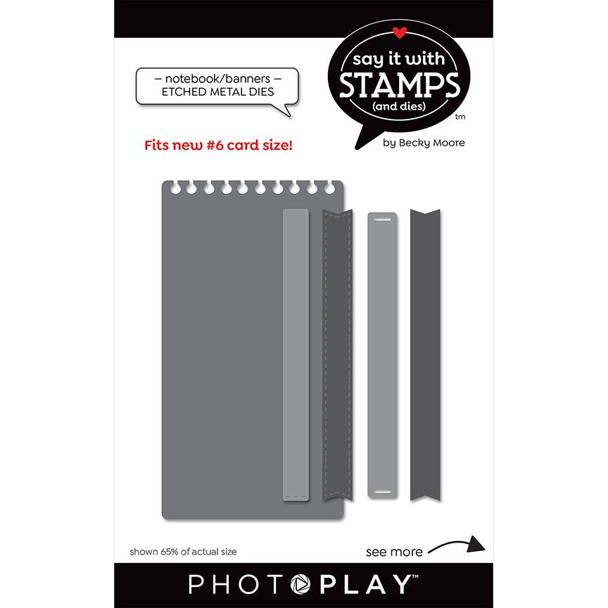 Photoplay Say It With Stamps Notebook/Banners Die