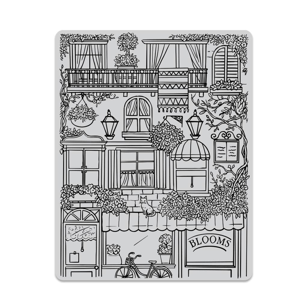 Hero Arts Cling Stamp Background Flower Shop